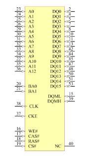 MT48LC16M16A2TG-7E Symbol