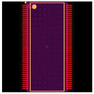 MT48LC2M32B2P-6IT Footprint