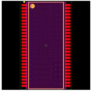 MT48LC4M16A2P-7E Footprint