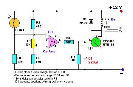 Common Photoresistor Application Circuit Diagram