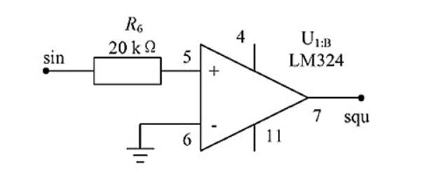 Figure 5. Square Wave Generating Circuit