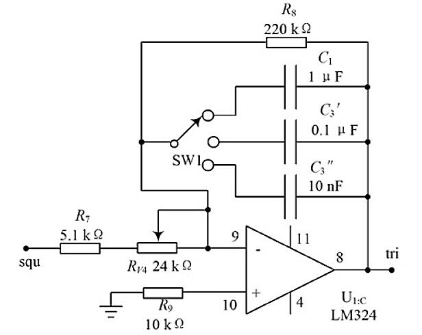 Figure 6. Triangle Wave Generating Circuit