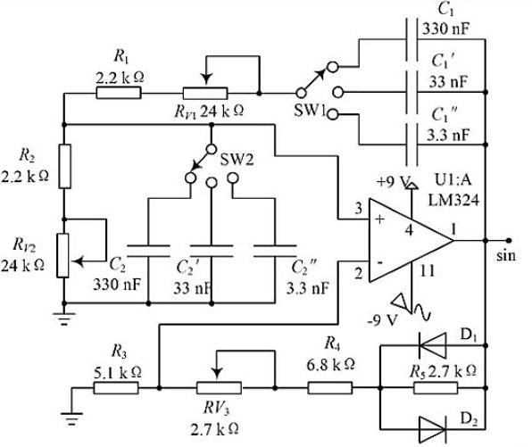 Figure 4. RC Oscillation Simulation Circuit