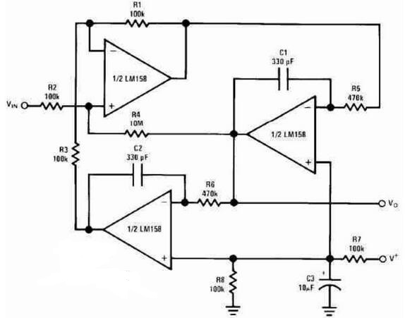 Active RC Band Pass Filter