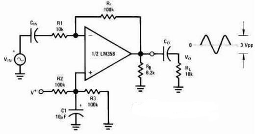 AC Coupled Non-inverting Amplifier