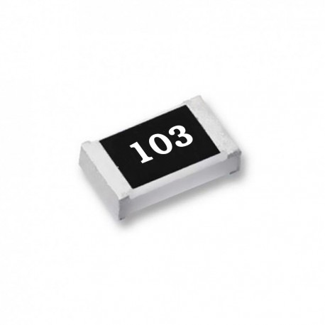 Chip Resistor with 103 Resistive Surface on Silkscreen