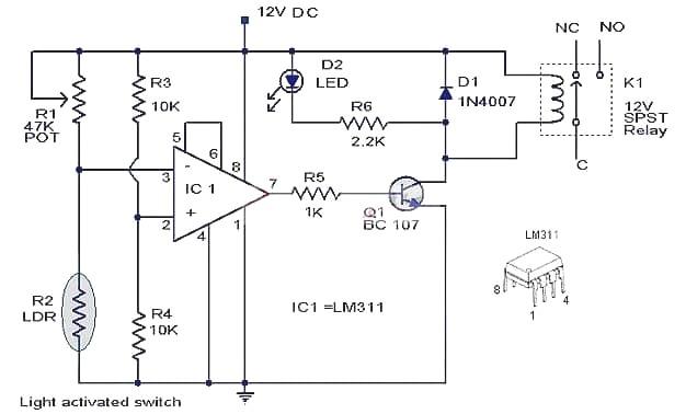 lm311 comparator circuit