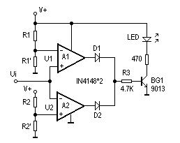 LM324 Comparator Circuit