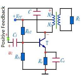 Inductive feedback oscillator circuit
