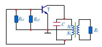 AC path of inductive feedback oscillator circuit