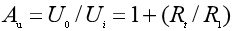 Equation of the closed-loop voltage amplification factor