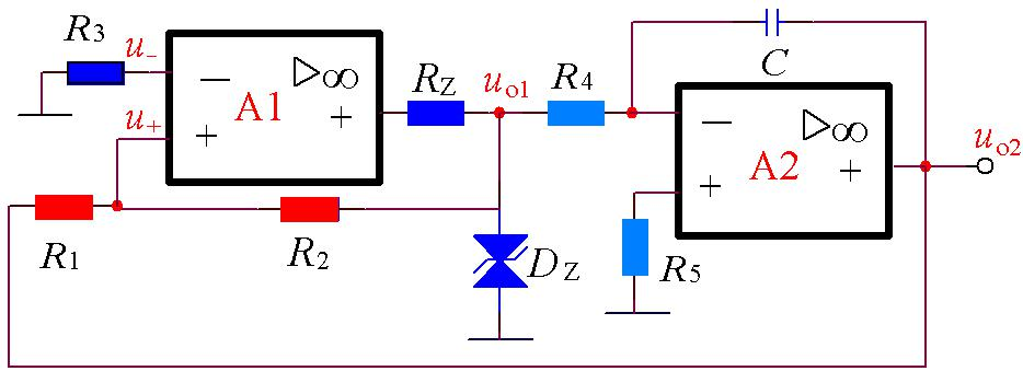 Circuit structure of triangle wave generator