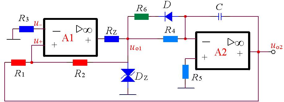 Circuit diagram of sawtooth generator