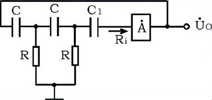 RC phase shift oscillator schematic diagram