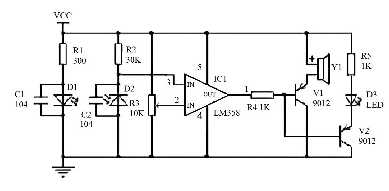 lm358 comparator circuit