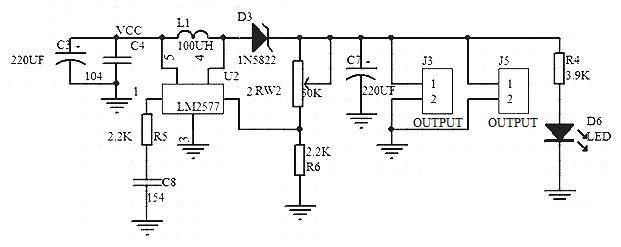 lm1577 step-up voltage regulator circuit