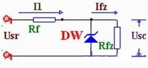 Silicon Zener Diode Circuit