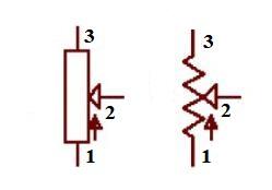 Potentiometer Circuit Graphic Symbol