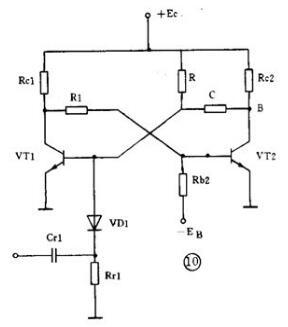 base-coupled monostable circuits