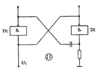 differential type monostable circuit