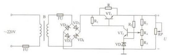 DC regulated power supply circuit