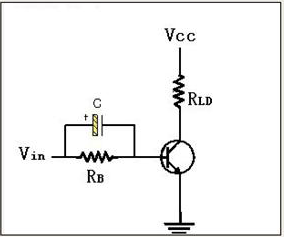 circuit with the acceleration capacitor--Transistor Switching Circuit Design and its theory