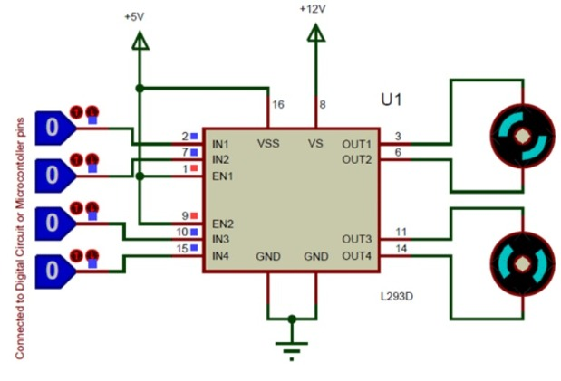 L293D Motor Driver Circuit