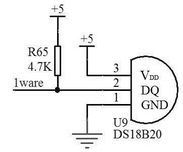 ds18b20 circuit schematic