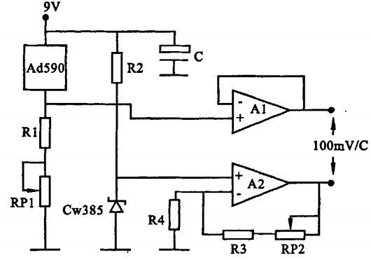 Celsius temperature measurement circuit