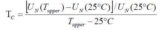 Voltage and Temperature Coefficient of Varistor