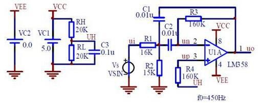 Filtering Circuit with LM358