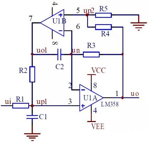 Dual-amp BPF