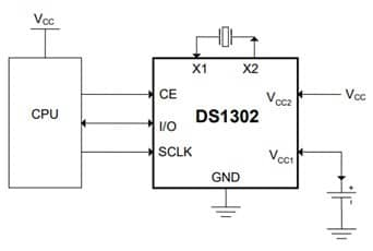 ds1302 typical operating circuit