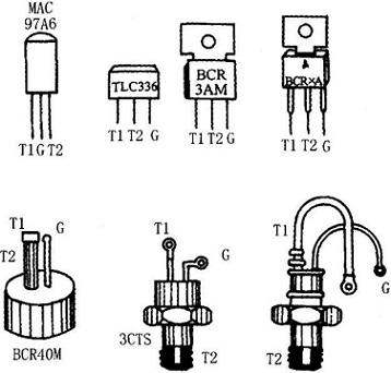 Pin Arrangement of Several TRIAC