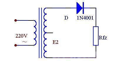 Half-wave rectifier circuit diagram