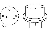 Figure 1 The metal round shell package structure of AD590