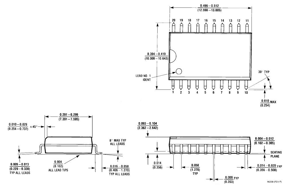 ADC0804 package(M)