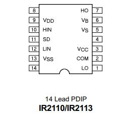 IR2110 Pin (14 lead)