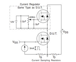 irfz44n gate charge test circuit
