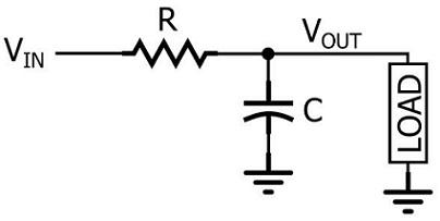 low pass rc filter circuit