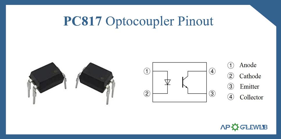 PC817 Optocoupler Pinout