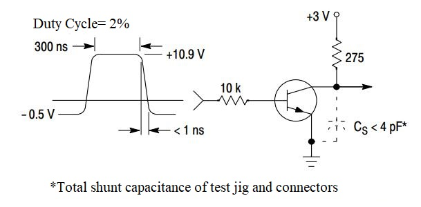 2N3904 Circuit: Delay and Rise Time Equivalent Test Circuit