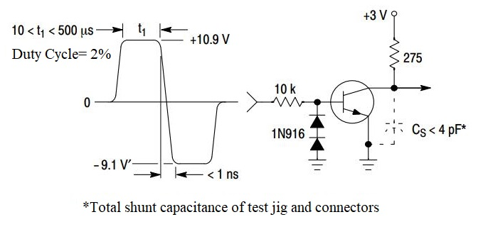 2N3904 Circuit: Storage and Fall Time Equivalent Test Circuit