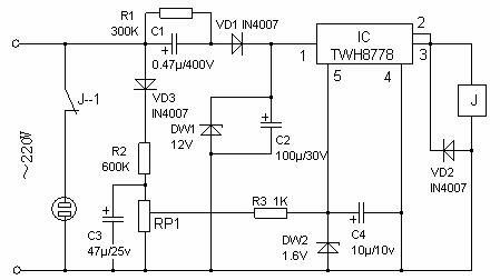 overvoltage protection circuit for appliances
