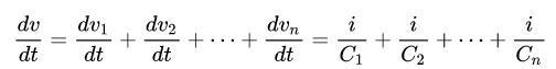capacitor in series formula
