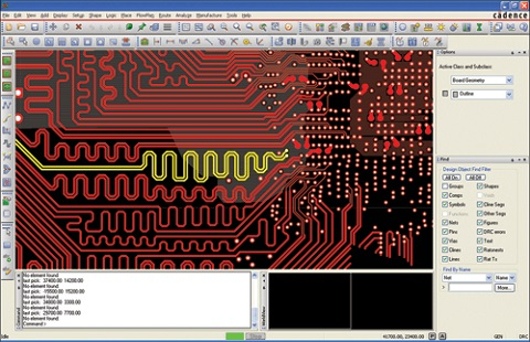 Allegro pcb designer interface
