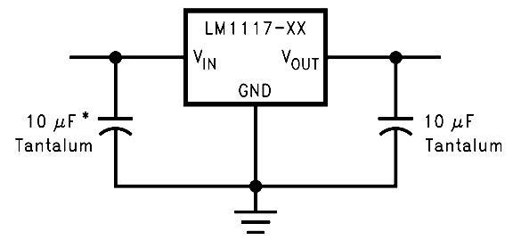 LM1117 Fixed Output Regulator Circuit