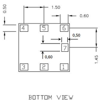 BMP180 Sensor Package: Bottom View