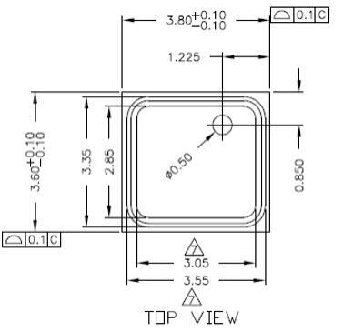BMP180 Sensor Package: Top View