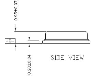 BMP180 Sensor Package: Side View